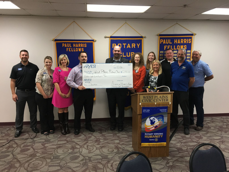 Arvest Bank supports Rotary